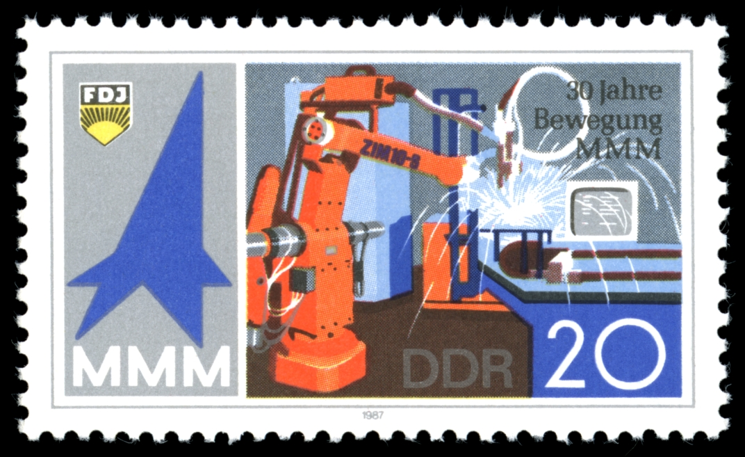 German Stamp, 1987