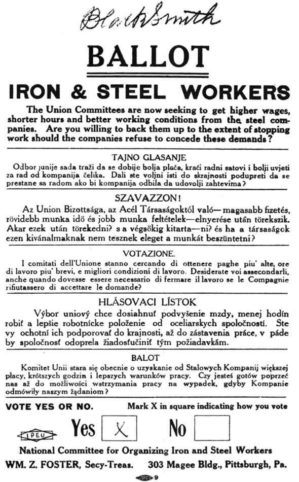 Steel strike of 1919 - Wikiwand