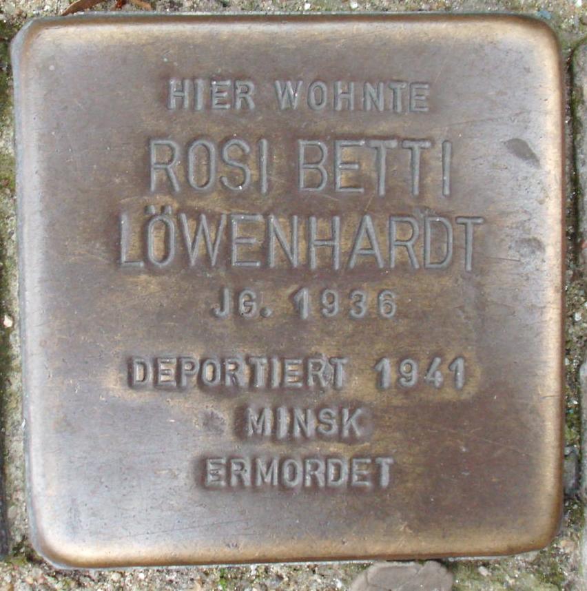 Stolperstein Raboisen 50 (Rosi Betti Löwenhardt) in Hamburg-Altstadt.JPG