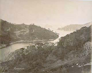historical black and white photogrpah of Takaboko Island