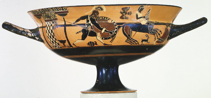 Fileterracotta Kylix Siana Cup Drinking Cup Met Gr133g