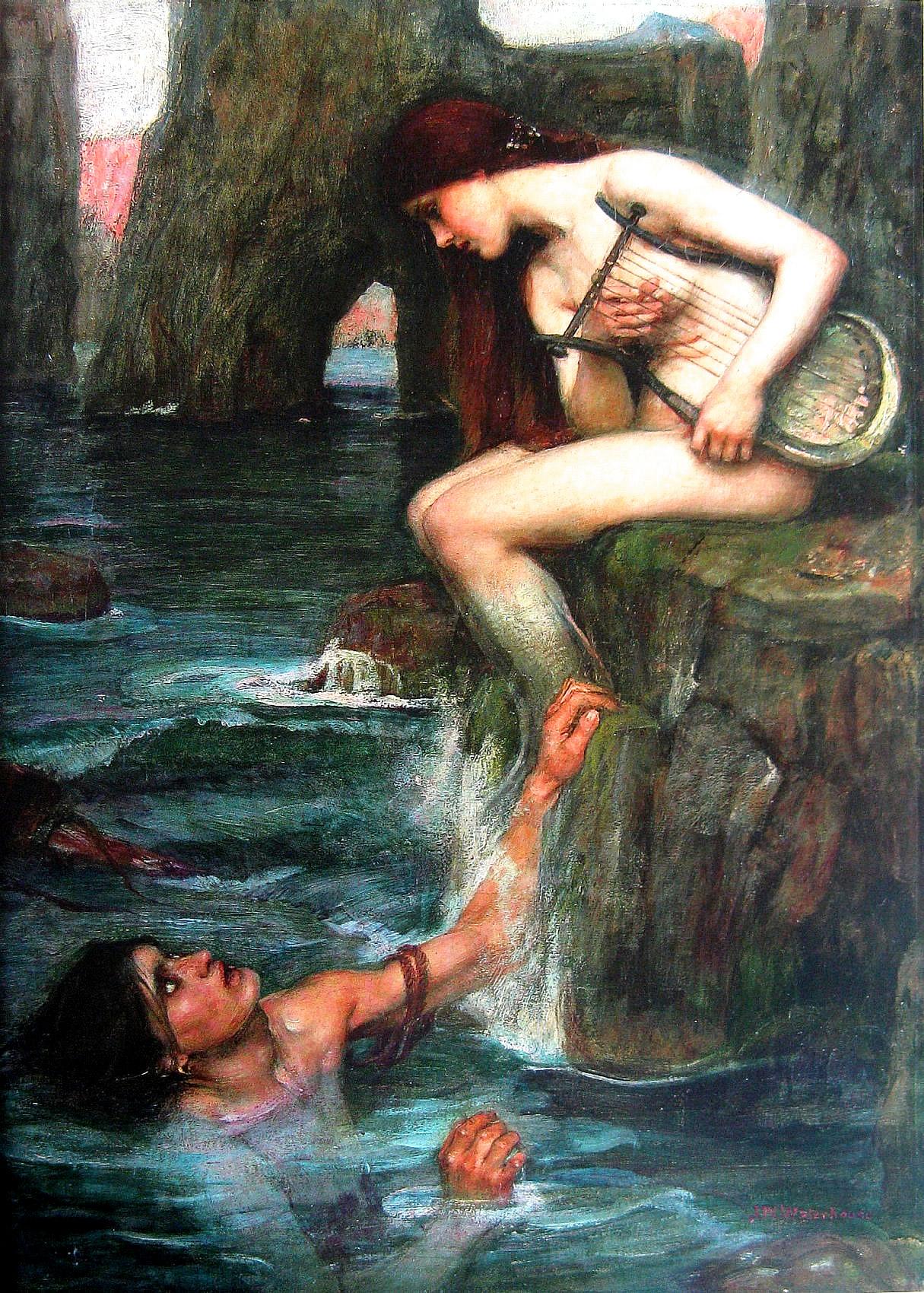 La sirène par John William Waterhouse