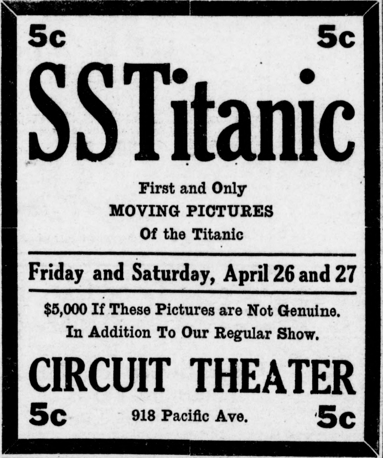 File:Titanic newsreel advertisement (1912).JPG - Wikimedia ...