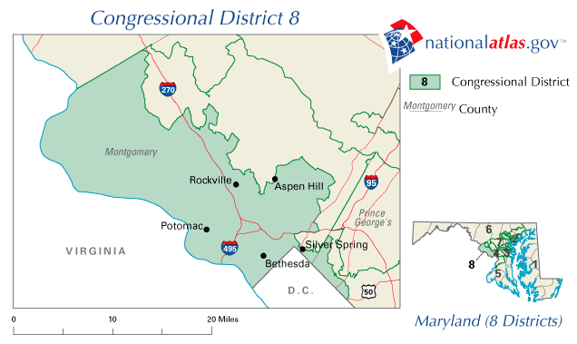 File:United States House of Representatives, Maryland District 8 map ...