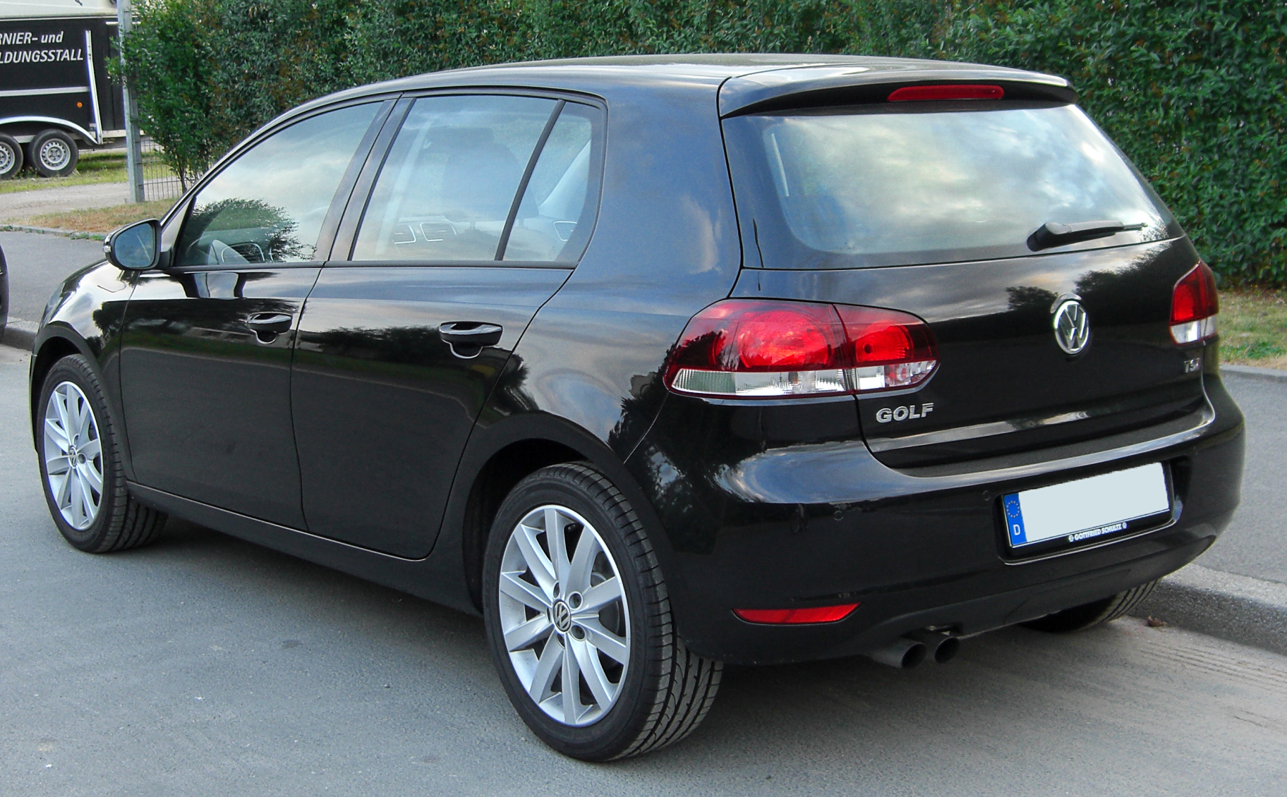 File Vw Golf Vi Rear 20100706 Jpg Wikimedia Commons