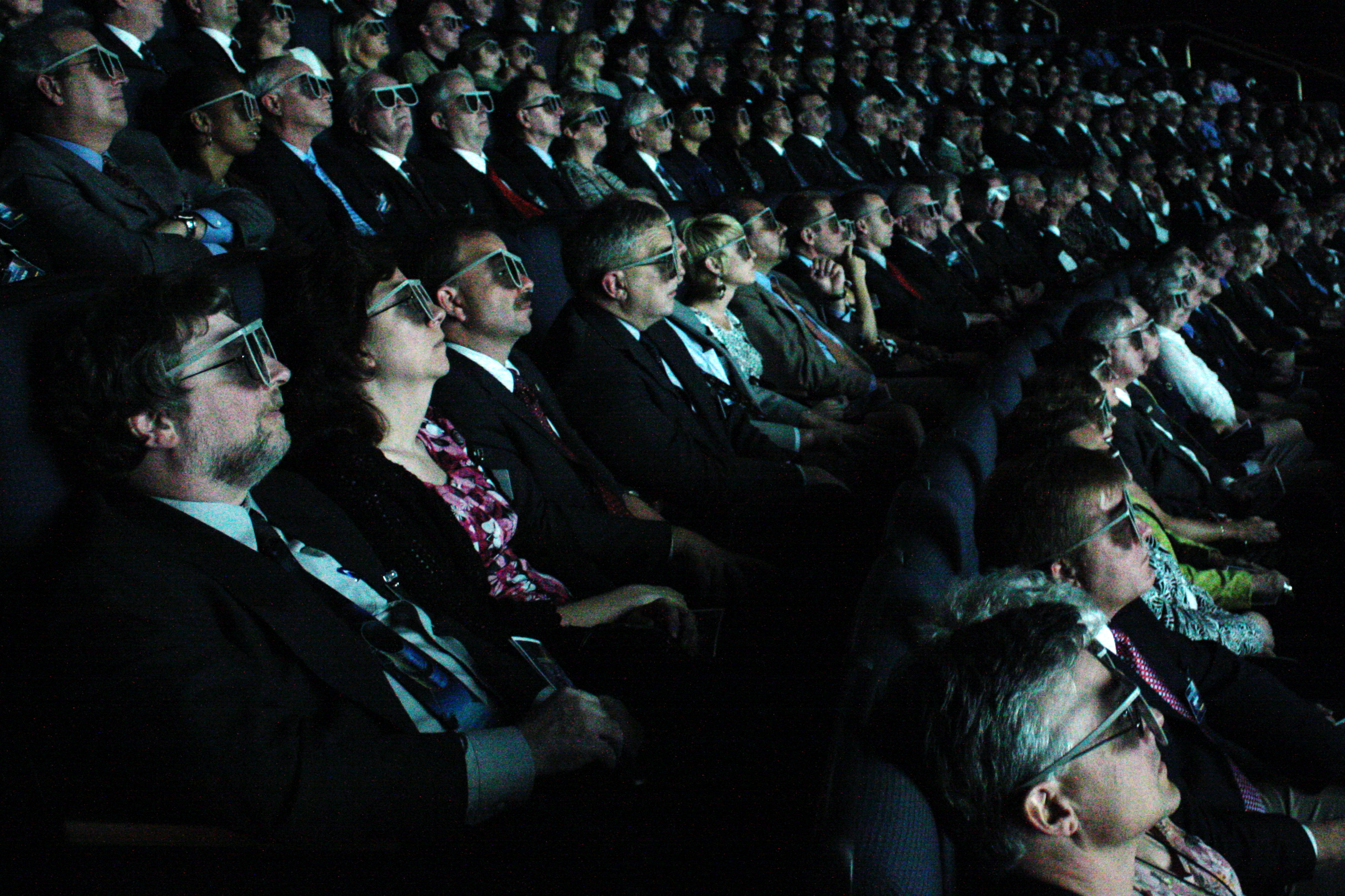 """3d movie Dubbed """"cinema 3d,"""" the prototype uses a special array of lenses and mirrors to  enable viewers to watch a 3-d movie from any seat in a."""