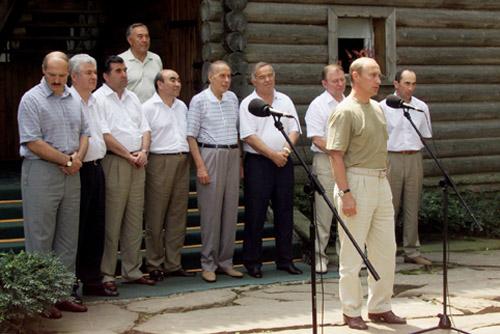 Loses Autokratenbündnis: Putin mit GUS-Amtskollegen in Sotschi, August 2001 (Bild: www.kremlin.ru)
