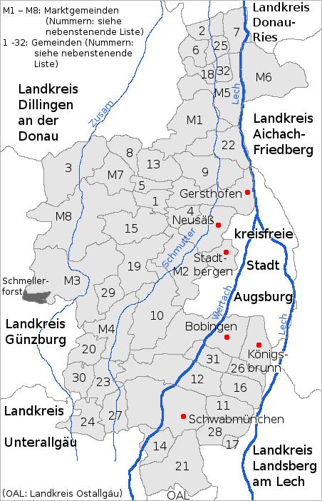 Landkreis Augsburg Karte.Datei 1 Landkreis Augsburg Png Wikipedia