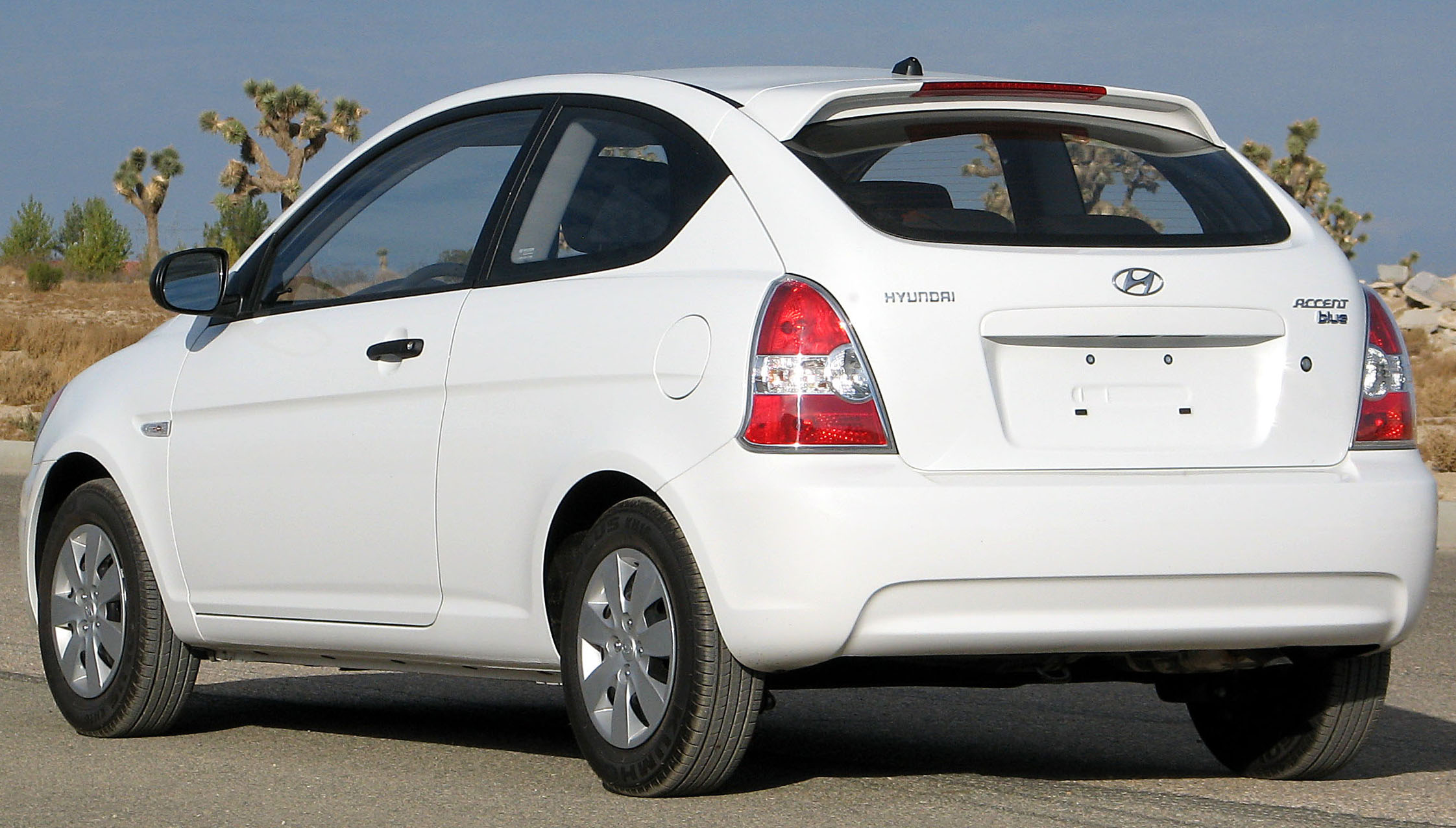 File:2010 Hyundai Accent Blue Hatch    NHTSA Rear