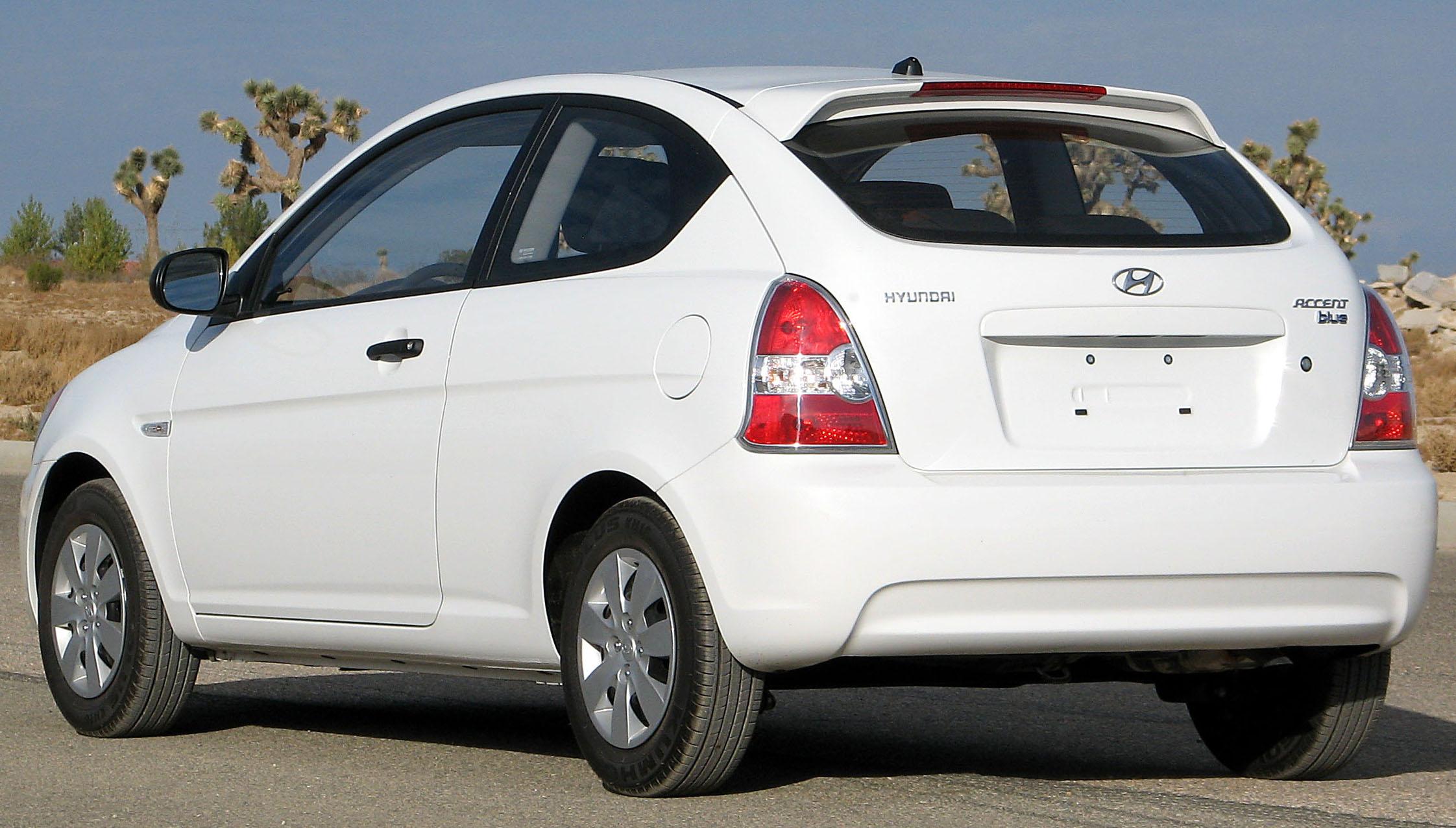 File2010 Hyundai Accent Blue hatch  NHTSA rearjpg  Wikimedia