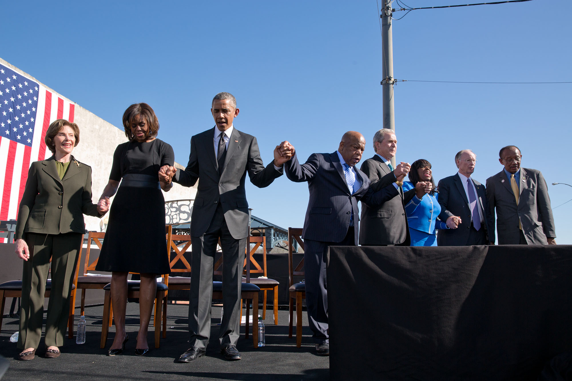 File:50th Anniversary of the Selma Marches - Former President George W Bush and former