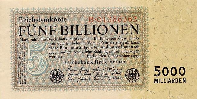 Eine Banknote, die alle Schulden begleichen könnte