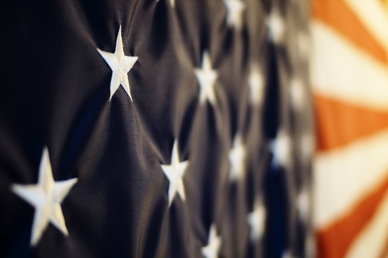 Image of the USA flag close up.