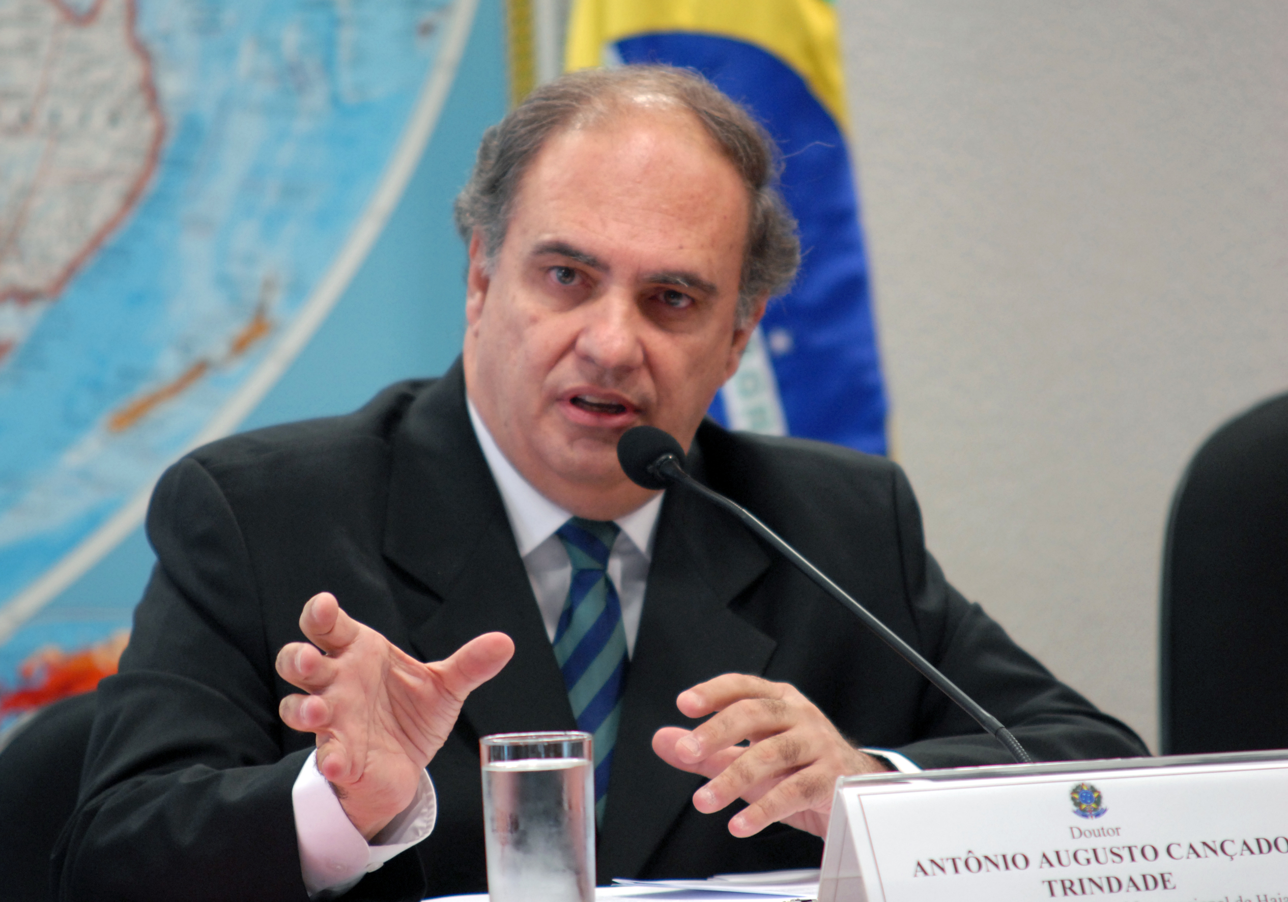Cançado Trindade at a committee of the [[Brazilian Senate]] in 2008