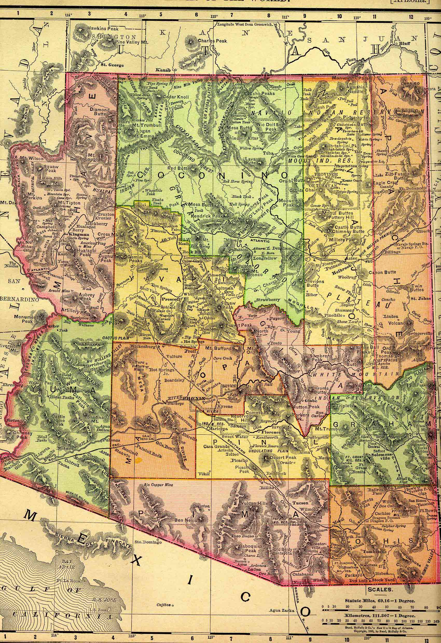 Map Of Arizona Border.History Of Arizona Wikipedia