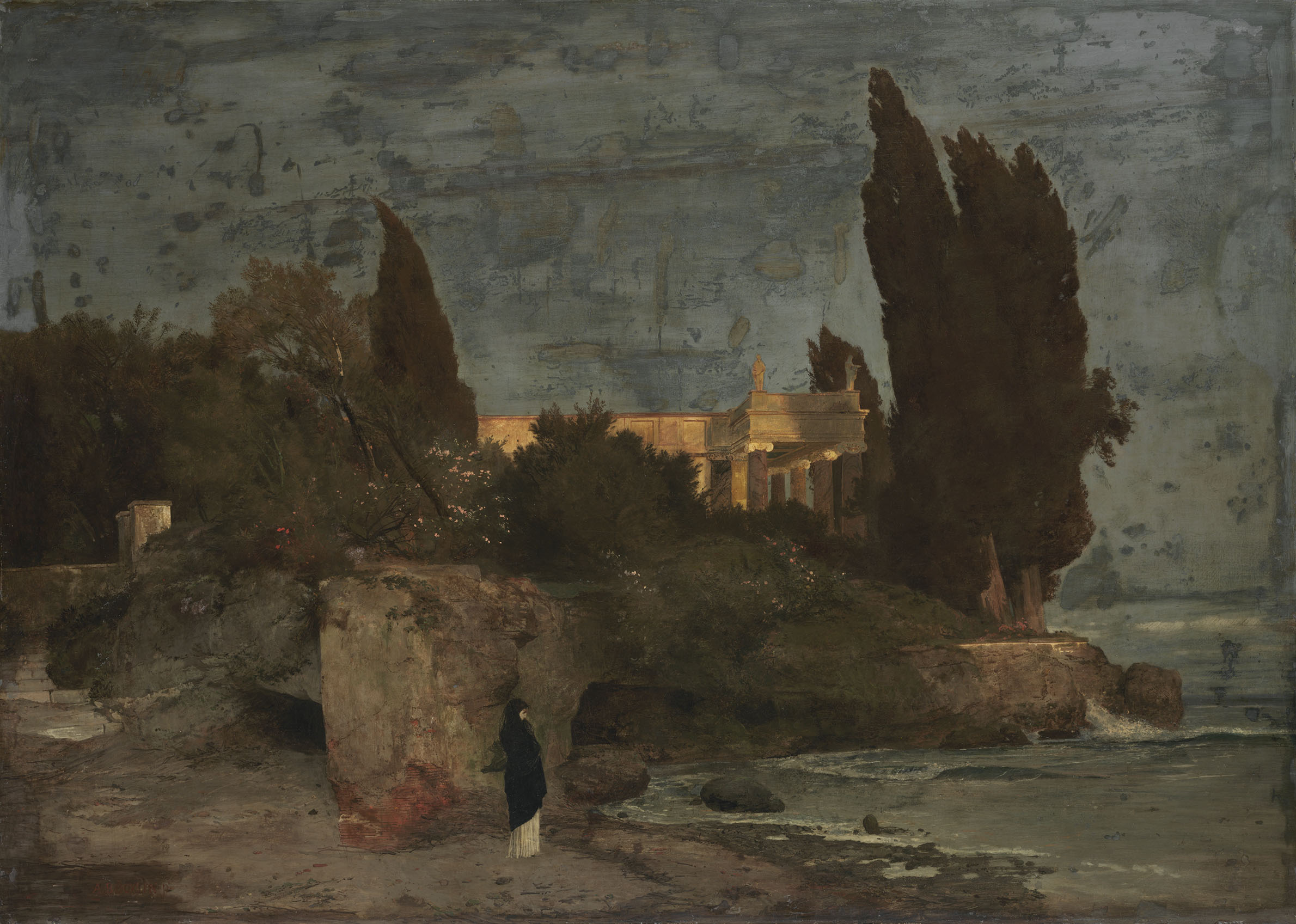 Файл:Arnold Böcklin - Villa am Meer I (1864).jpg