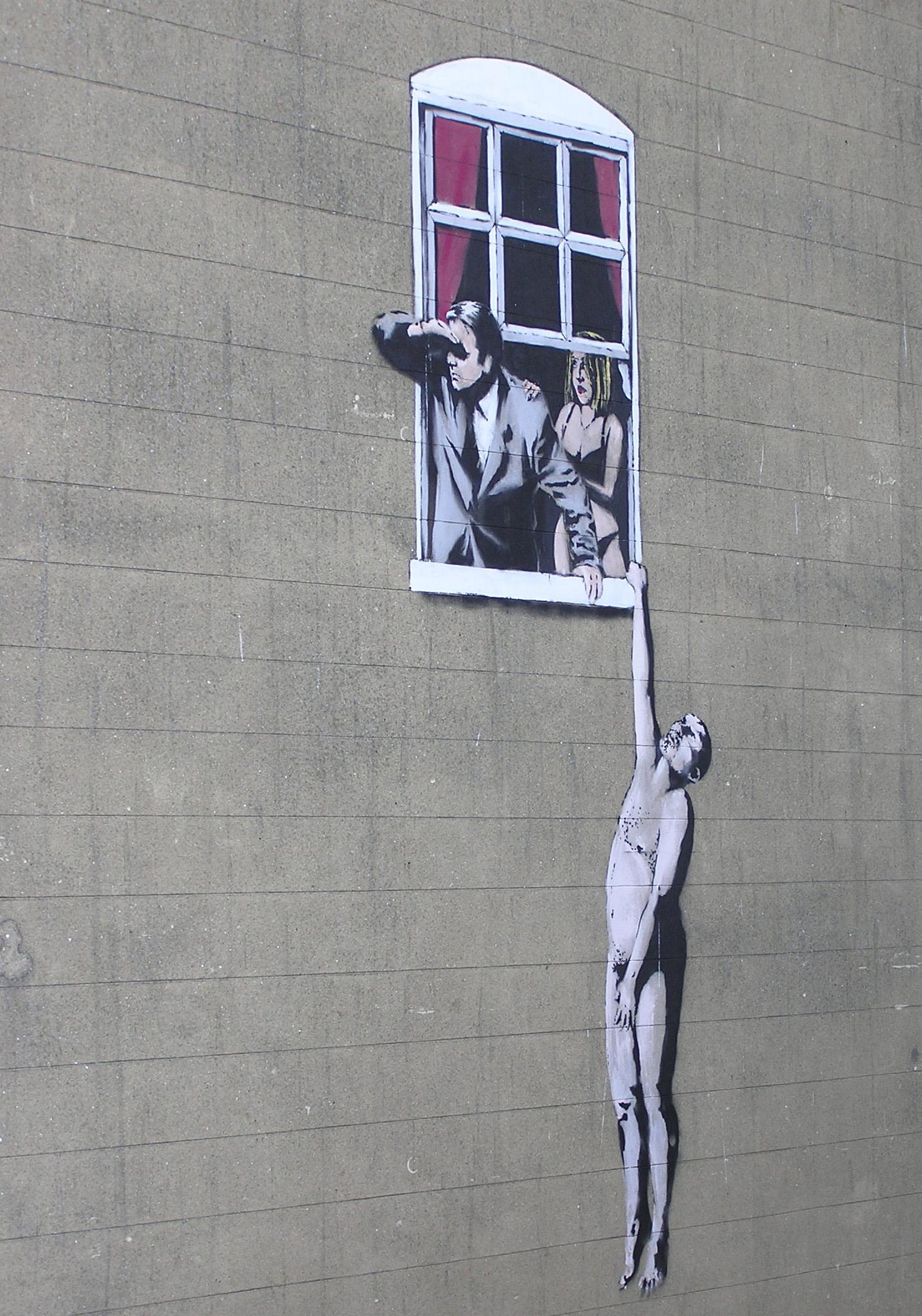 Banksy el artista de lo urbano documentaci n for Immagini di murales e graffiti