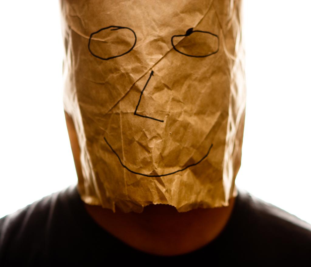 Image result for bag on head