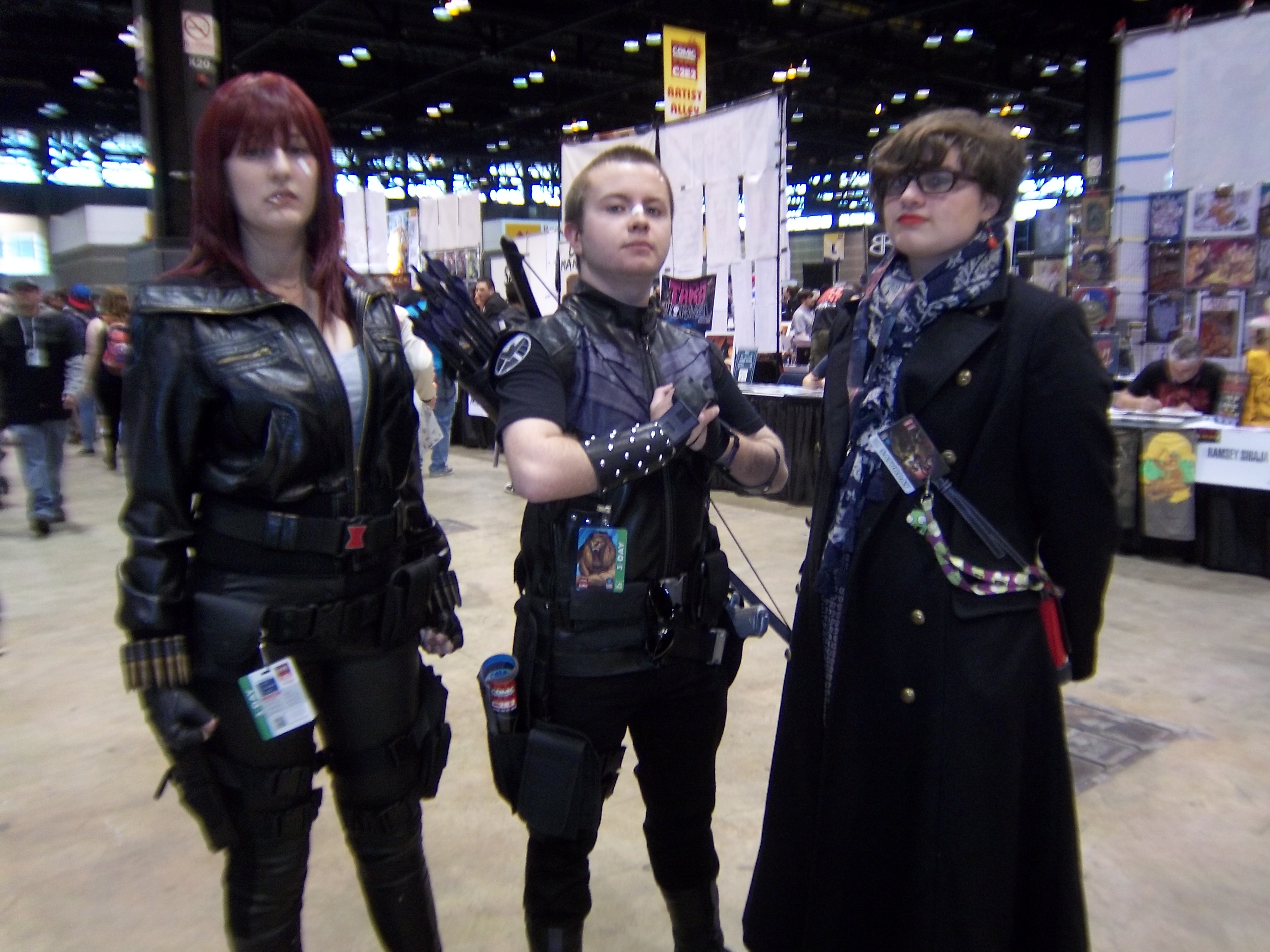 File:C2E2 (Day 2) 2014, Black Widow, Hawkeye, and another ...