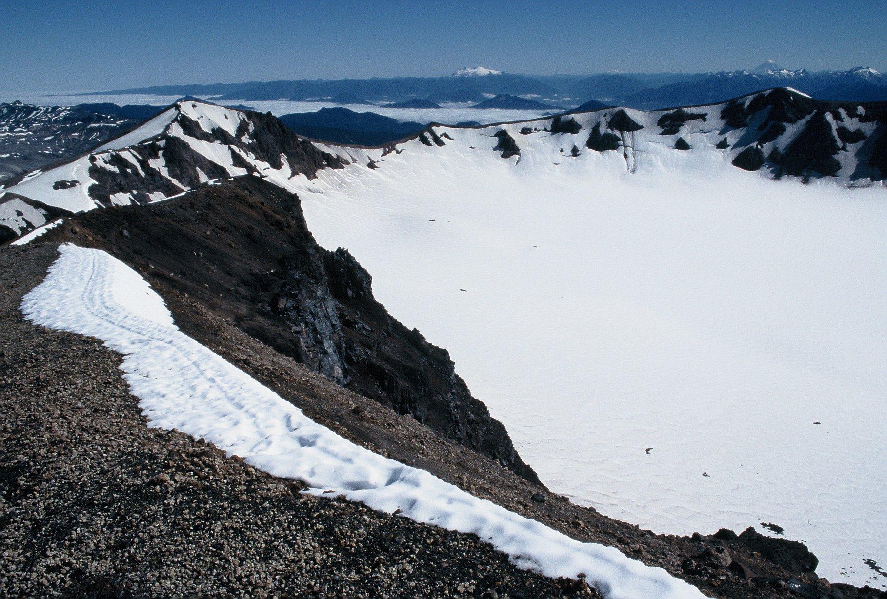 Volcanic calderas of Chile