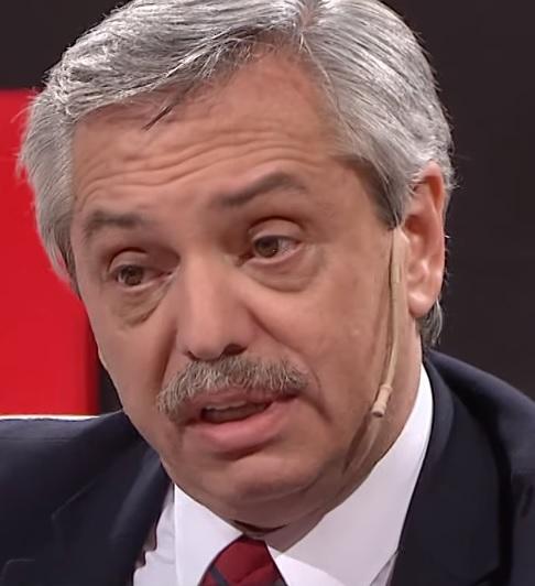 Candidato presidencial Alberto Fernández