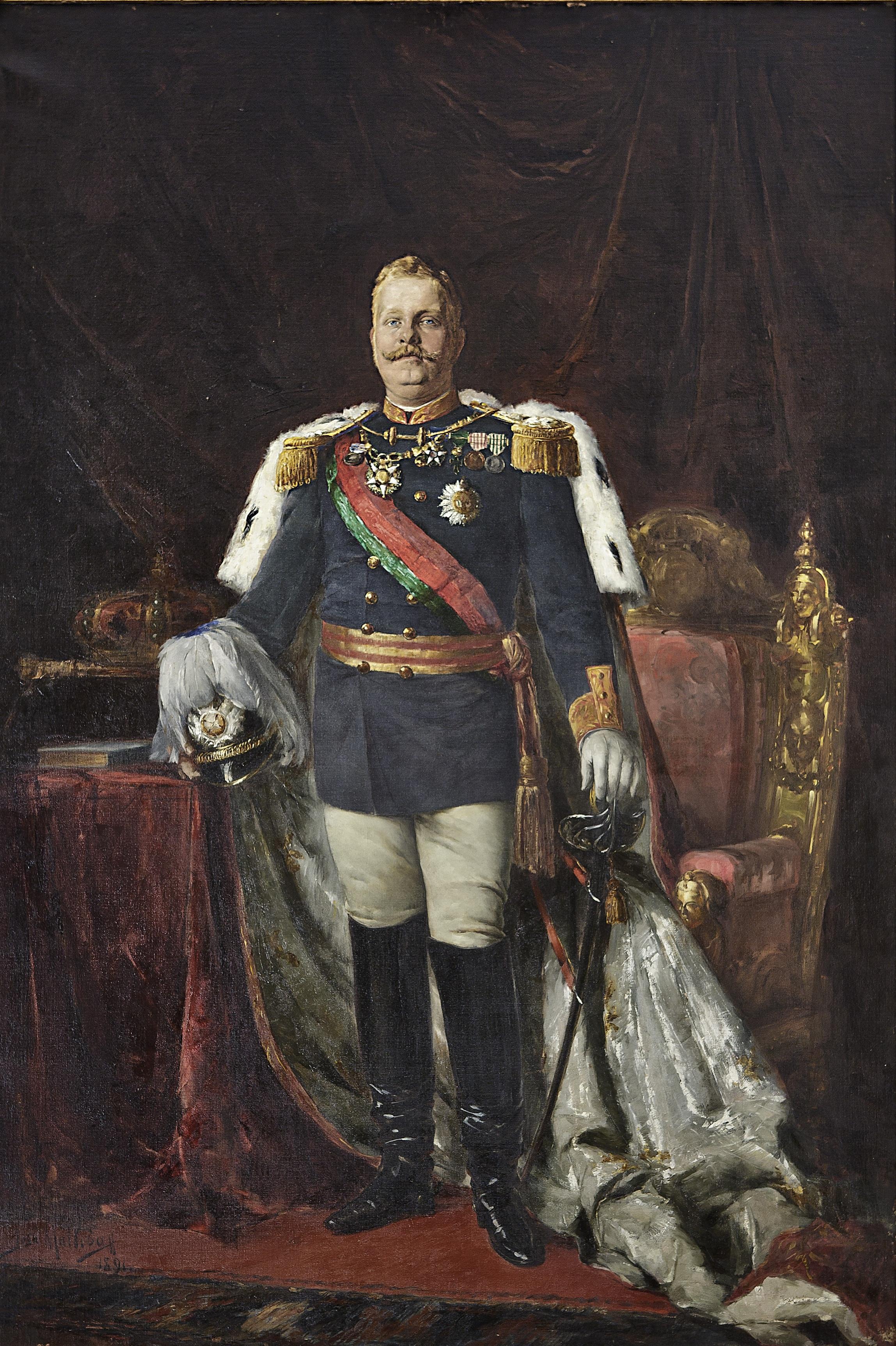 500 Reis. Carlos I de Portugal. 1892 Carlos_I_of_Portugal_by_Jos%C3%A9_Malhoa