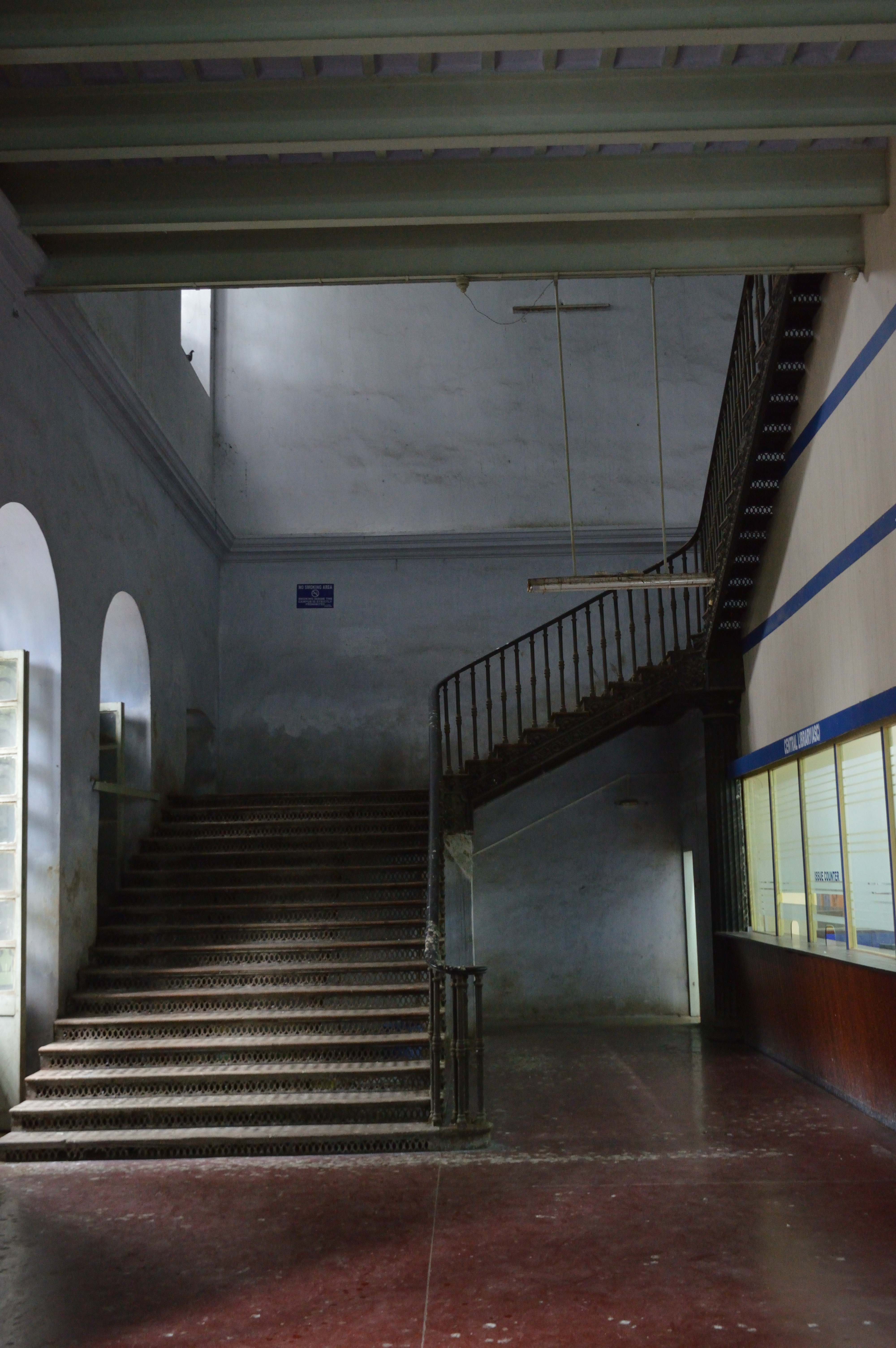 File:Cast Iron Staircase   Entrance Hall   Serampore College   Hooghly  2017 07