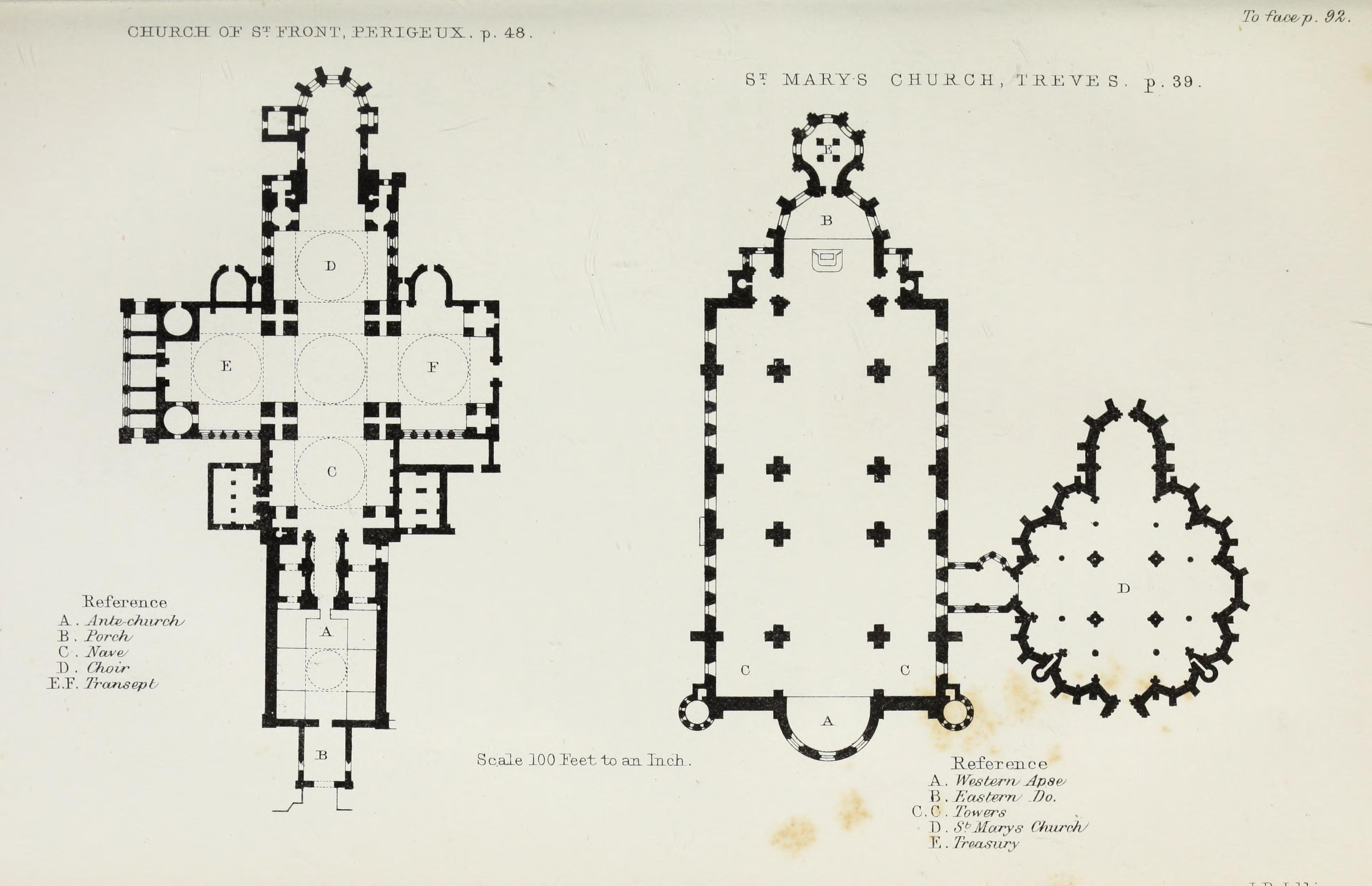 File:Church and conventual arrangement. With copious references, a complete glossary, and