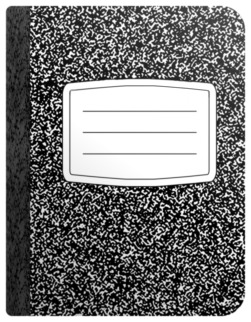Picture of a generic composition book, with a ...