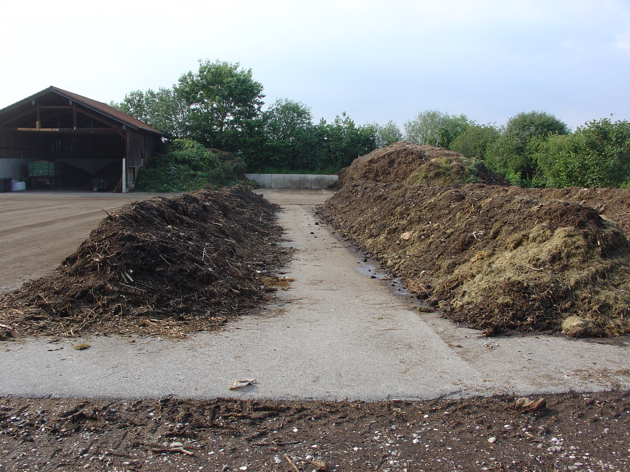 Organic compost being made. Personally, we prefer the Berkeley Method, a