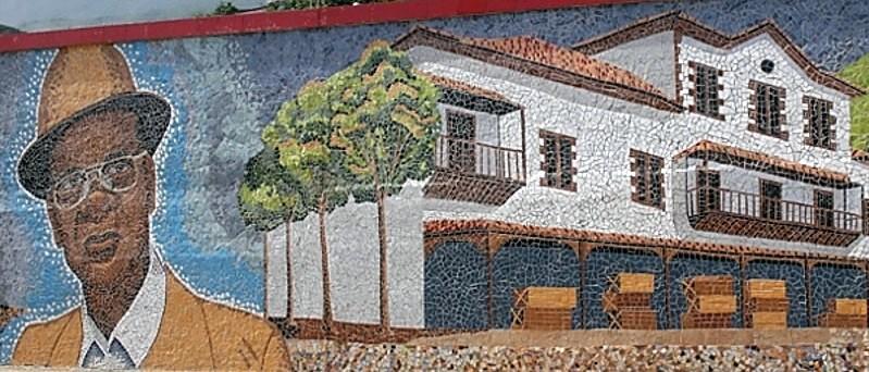 Mural de Cruz Felipe Iriarte realizado por Winston Salas.