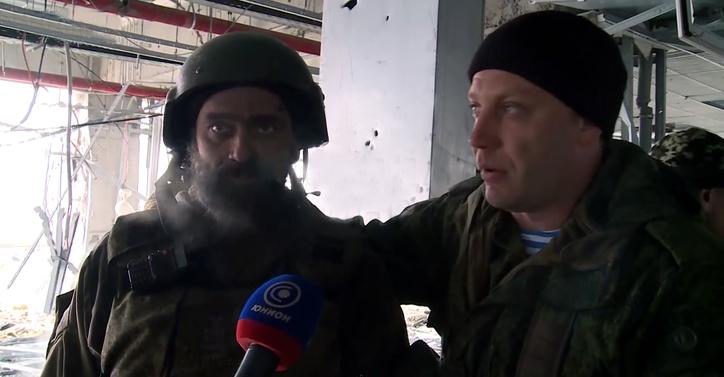 DPR Prime Minister Alexander Zakharchenko in Donetsk airport, 16 January 2015.jpg