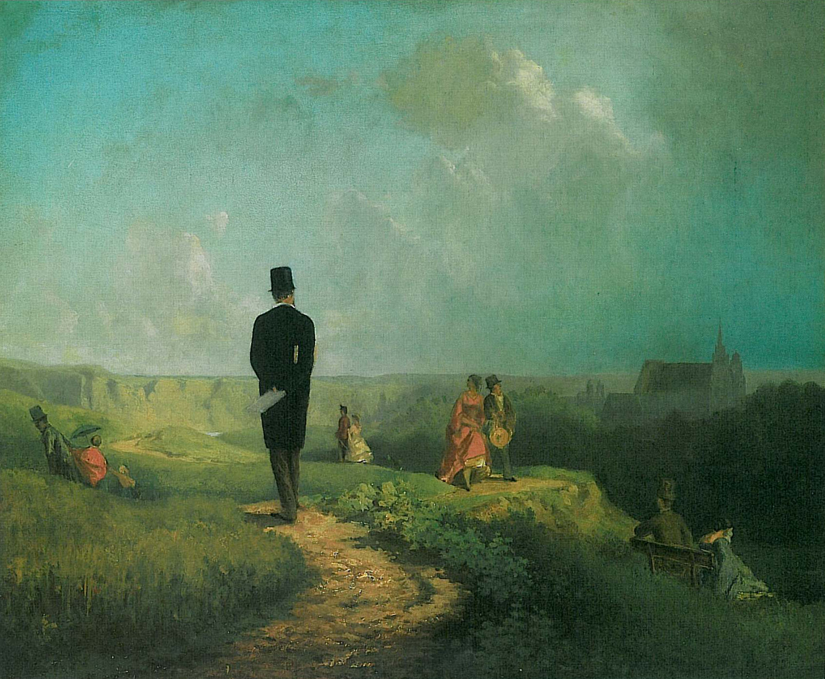 Der Hagestolz, Carl Spitzweg