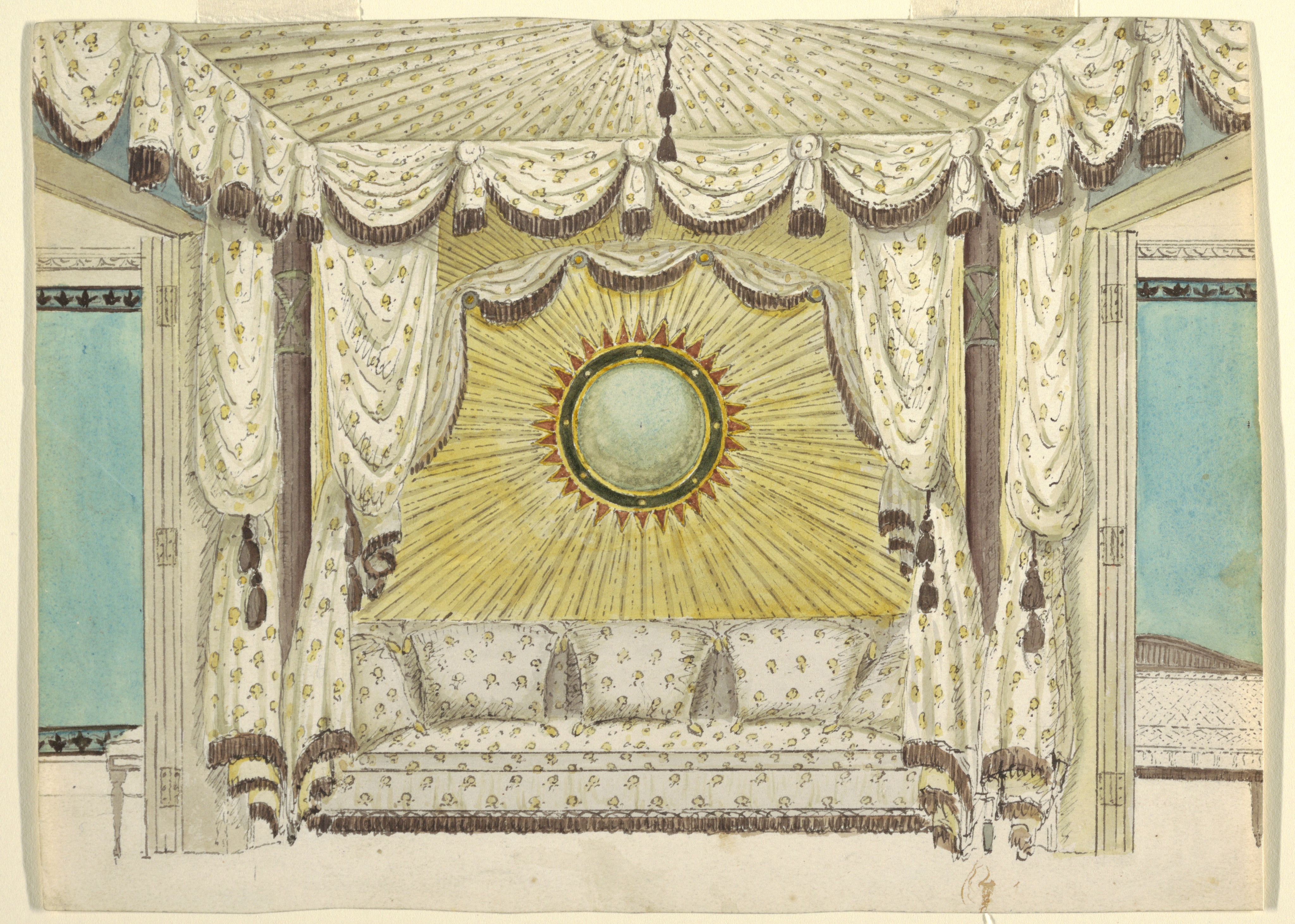 FileDrawing Design For Bed With Tented Alcove Probably The Prince Of