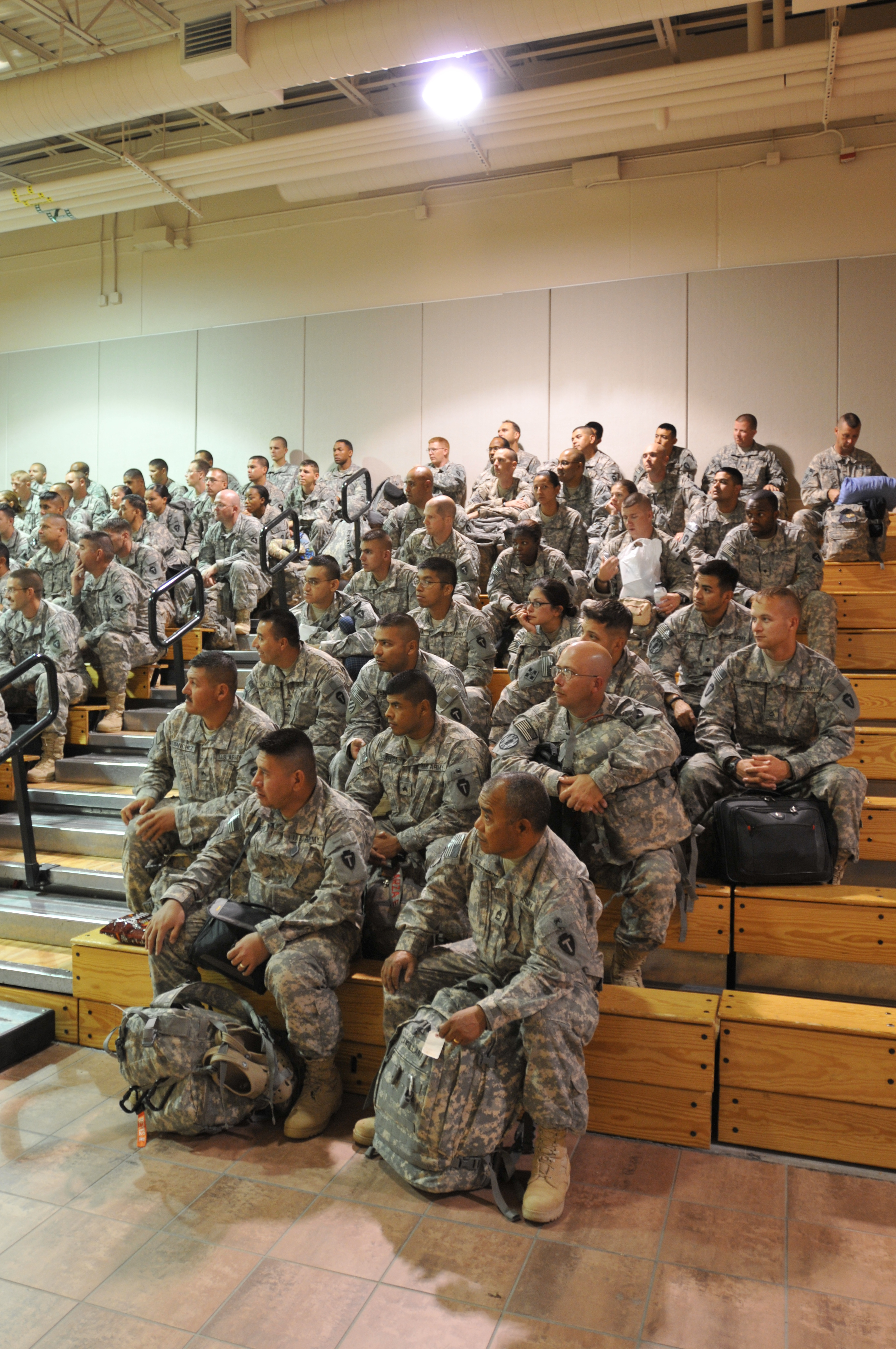 File:Echo Company 536th Arrive in Fort Bliss after Iraq