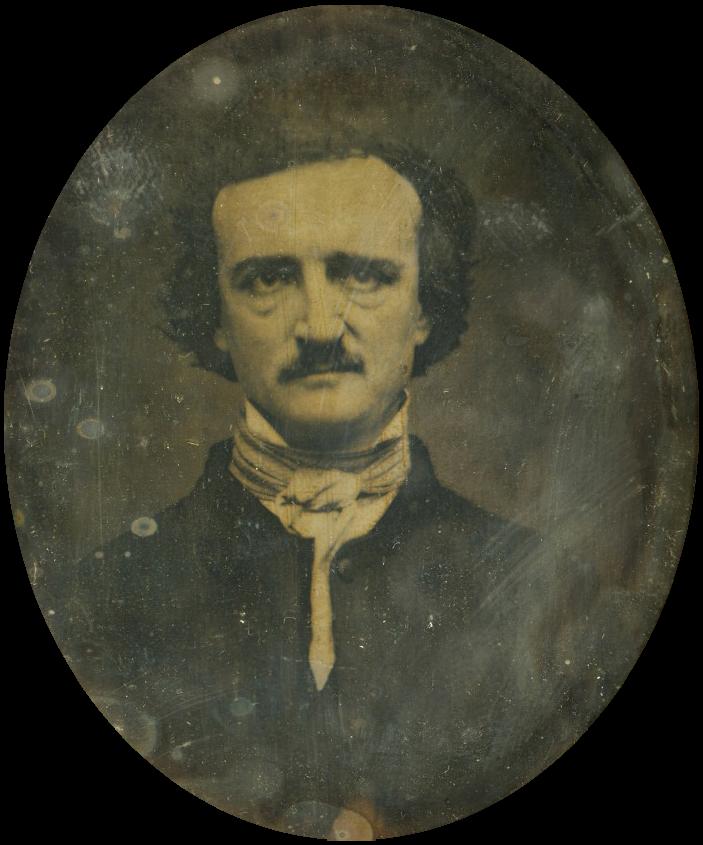 Daguerrotipo de Edgar Allan Poe publicado por primera vez en 1880. Arte: W. S. Hartshorn. Fuente: Wikipedia.