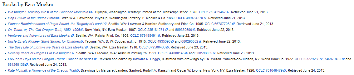 Ezra Meeker bibliography today, after OCLC.png