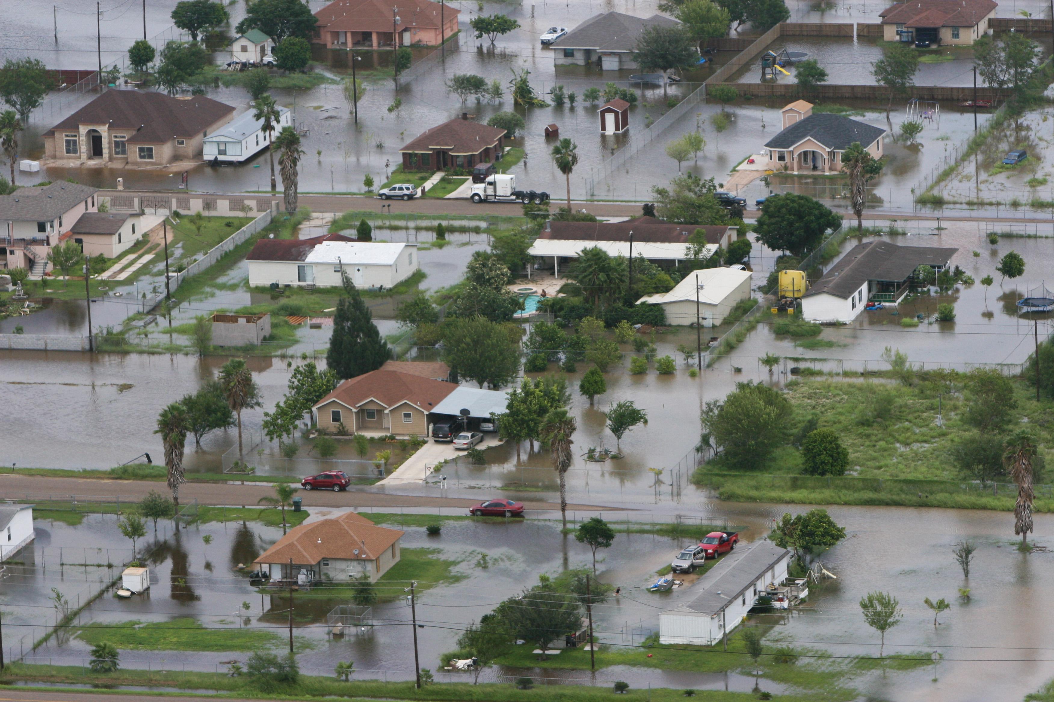 Flooded Neighboorhood In Missouri City Tx