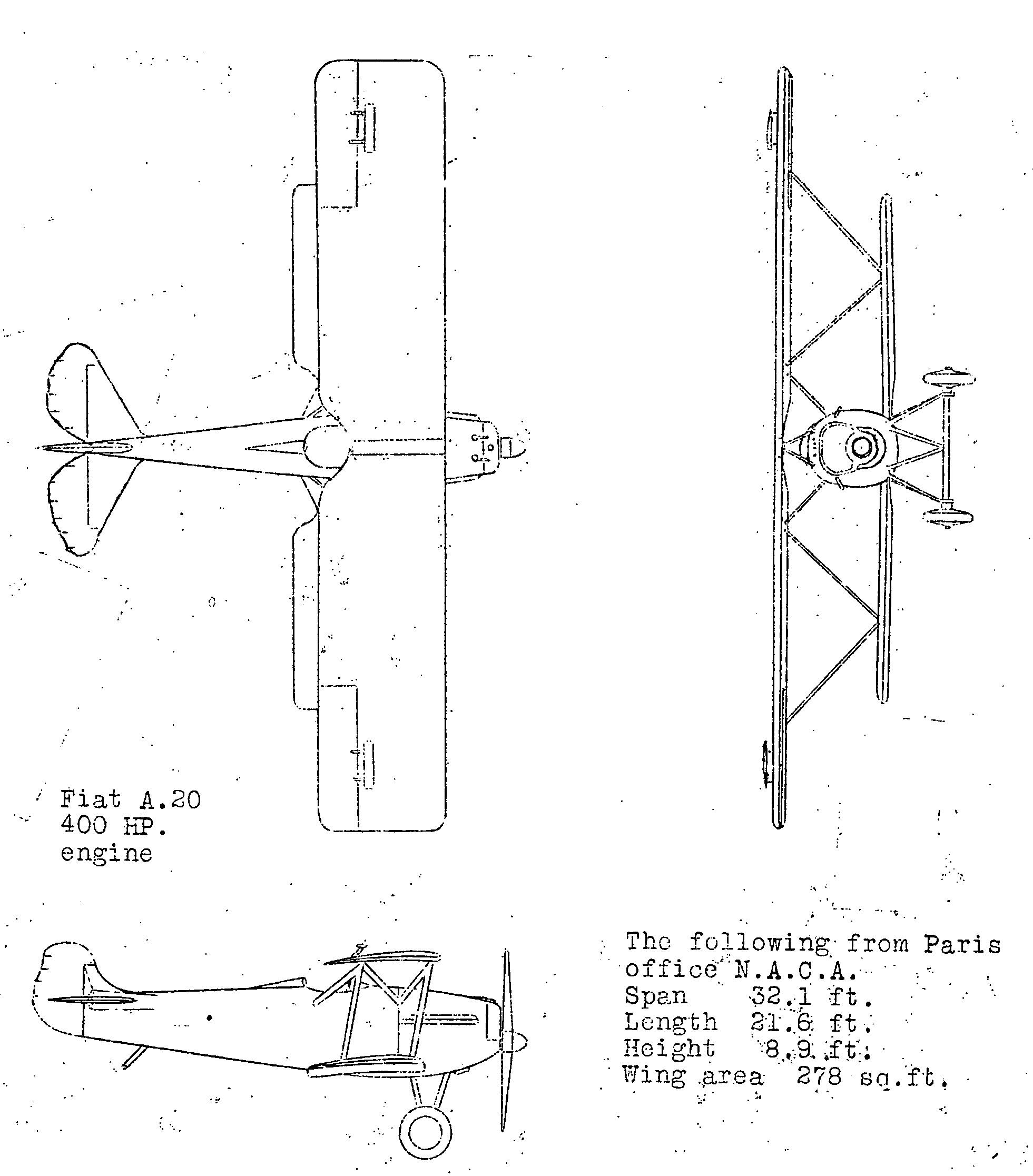 Filefiat Cr20 3 View Naca Aircraft Circular No43 Wikimedia Fiat Engine Diagram