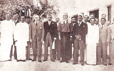 The first Cabinet of independent Ceylon. Suntharalingam is on the far left. First Cabinet of Ceylon.jpg