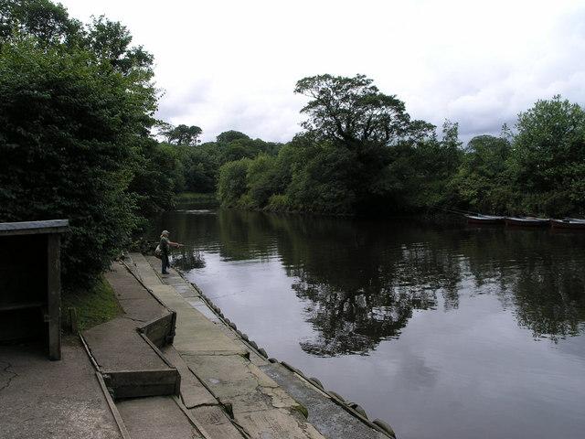 Fishing. River Coquet. Warkworth. - geograph.org.uk - 502110
