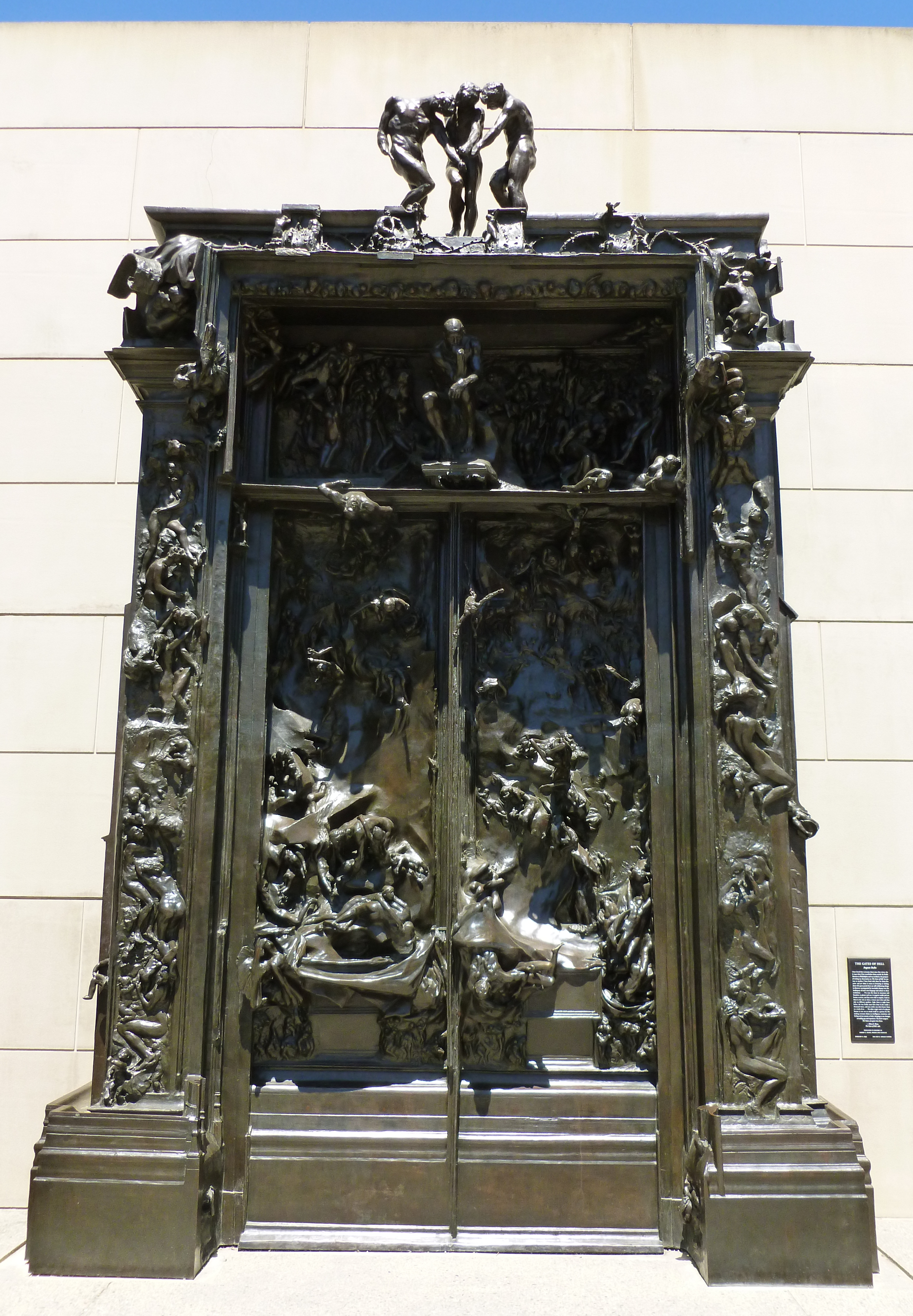 File:Gates of Hell sculpture by Rodin.JPG - Wikimedia Commons Rodin Gates Of Hell
