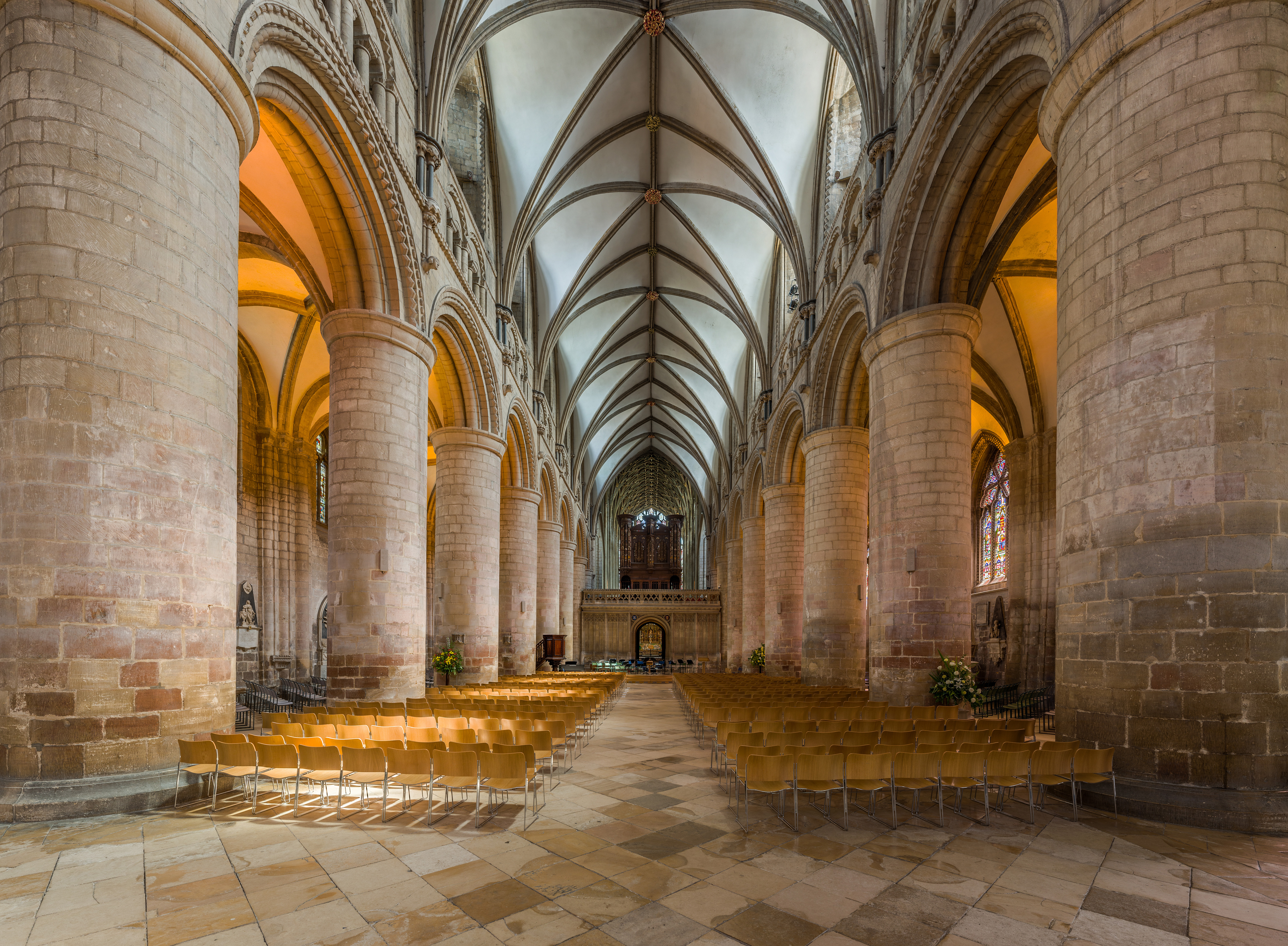 File Gloucester Cathedral Nave Gloucestershire Uk