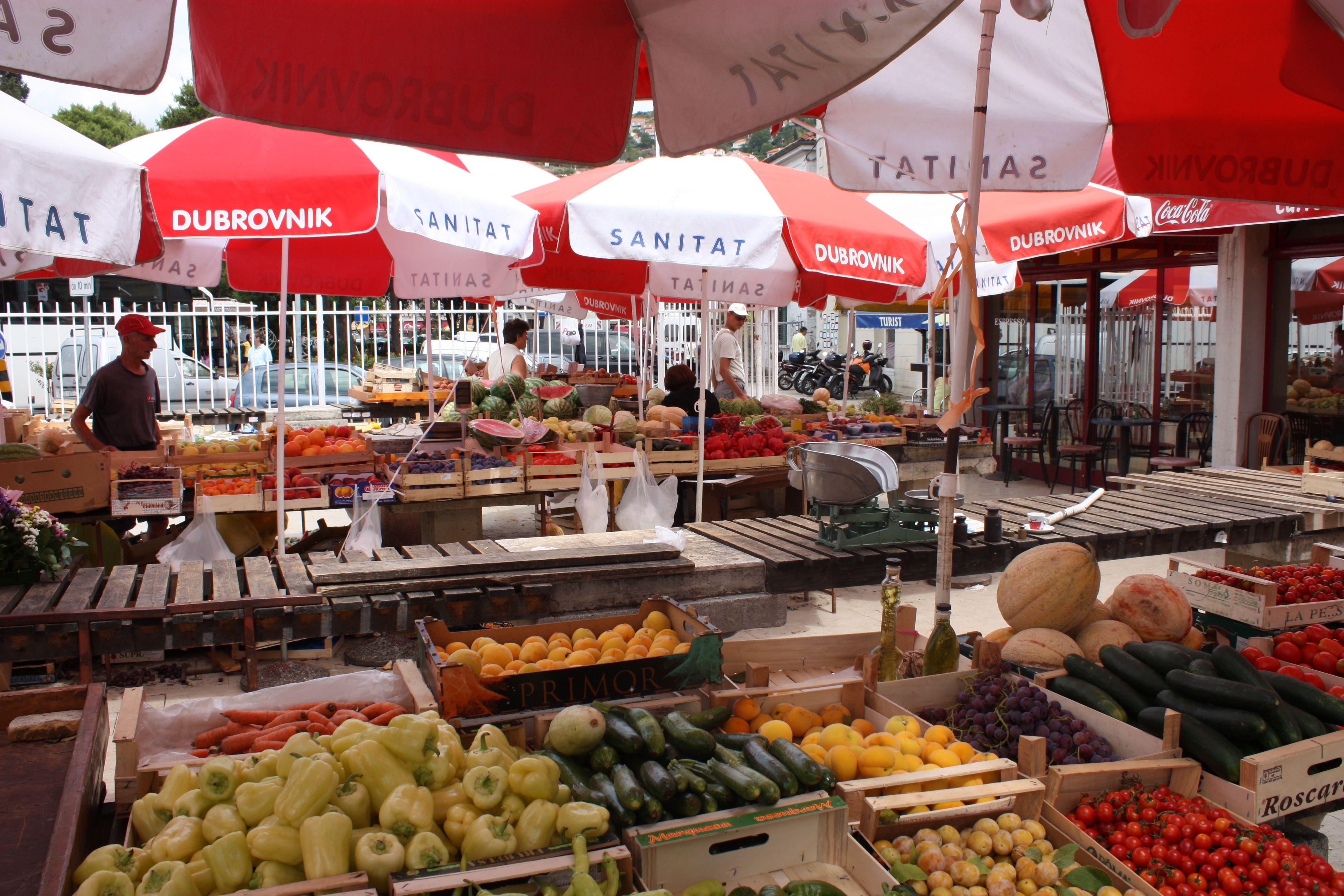 Dubrovnik farmer's market