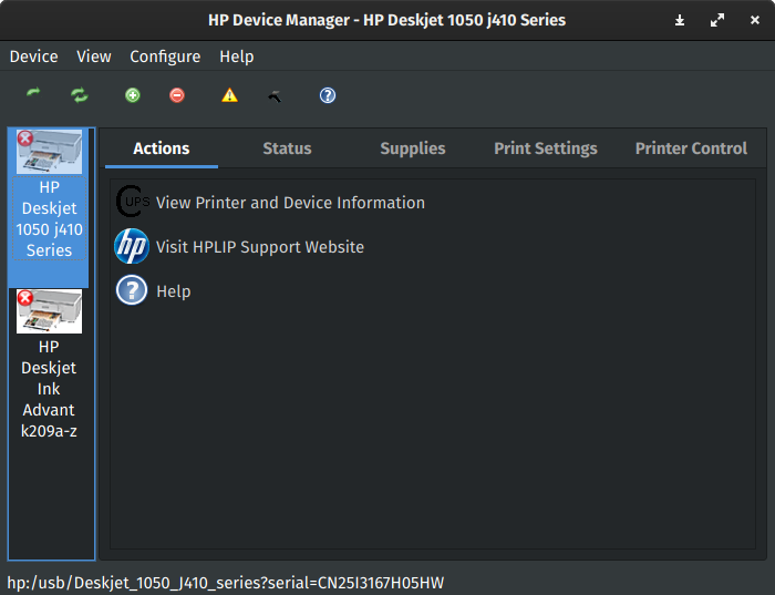 get hp serial number command line