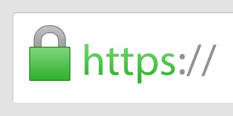 Example of location bar with lock indicating secure HTTPS connection
