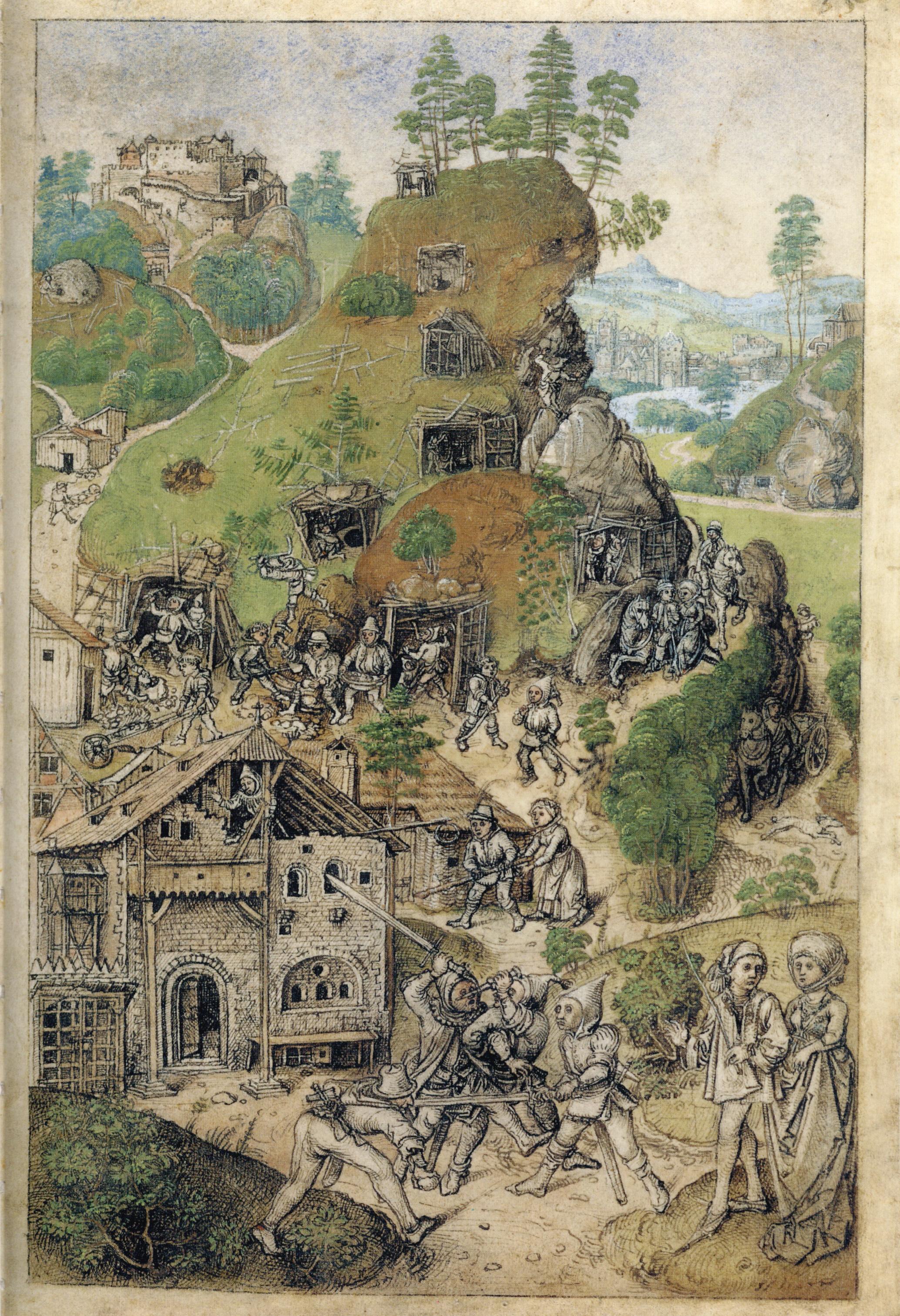 Hausbuch Wolfegg 35r Bergwerk.jpg