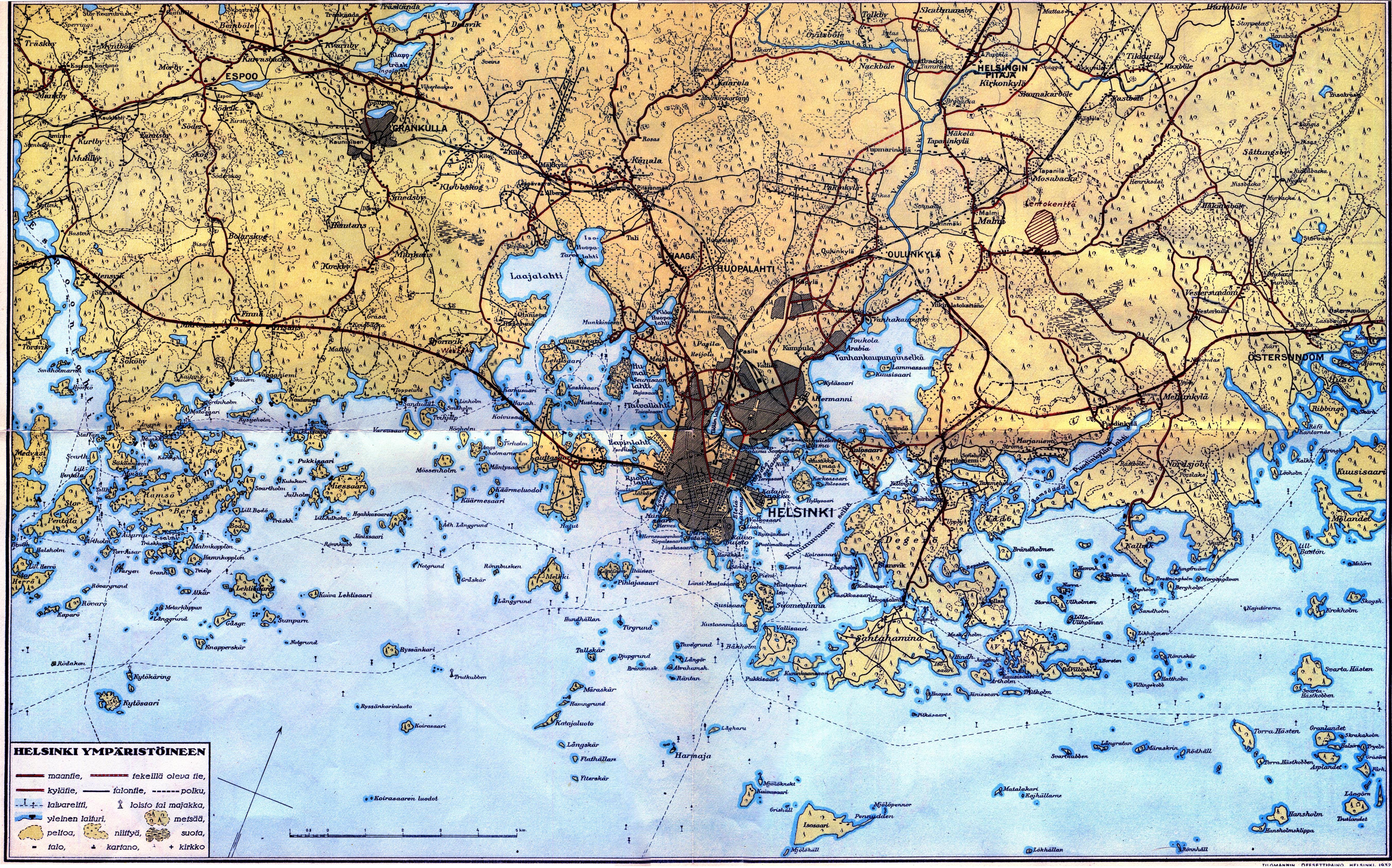 File Helsinki Map 1932 Jpg Wikimedia Commons