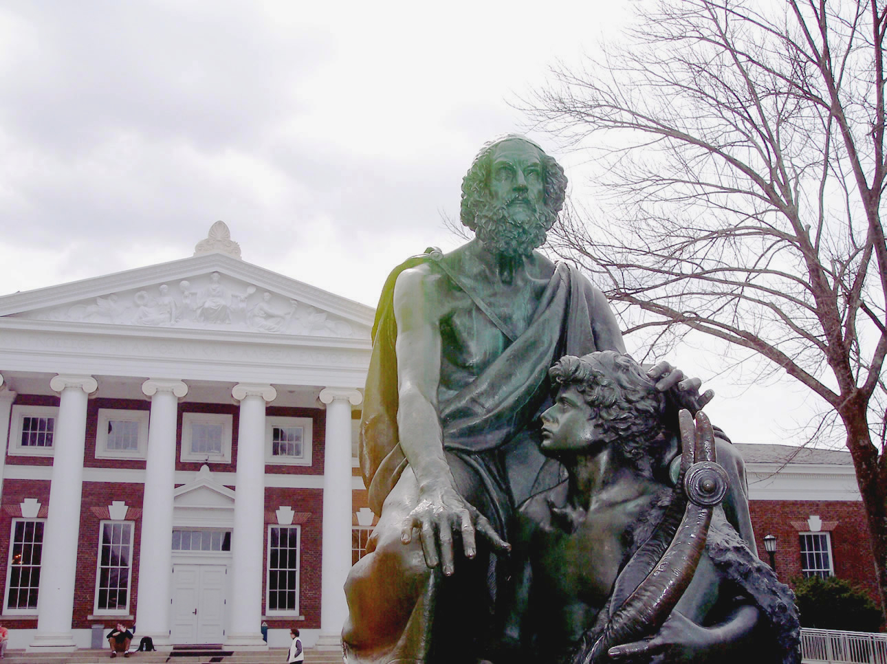 Statue of Bilnd Homer at the University of Virginia