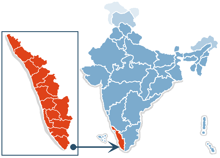 location of kerala in india map File India Map Kerala Png Wikimedia Commons location of kerala in india map